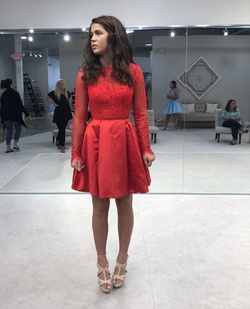 Sherri Hill Red Size 4 Cocktail Dress on Queenly