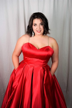 Sherri Hill Red Size 16 Plus Size Ball gown on Queenly