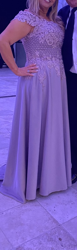 MadelineGown Purple Size 12 Plus Size Straight Dress on Queenly