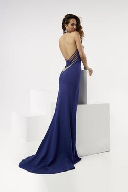 Style 6015 Jasz Couture Blue Size 12 Tall Height Side slit Dress on Queenly