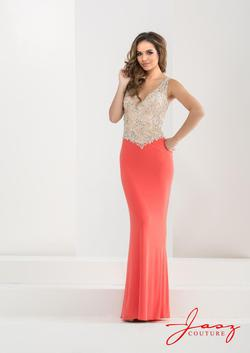 Style 5814 Jasz Couture Orange Size 2 Prom Plunge Coral Pageant Straight Dress on Queenly