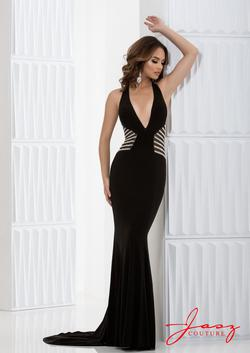 Style 5687 Jasz Couture Black Size 4 Sorority Formal Tall Height Straight Dress on Queenly