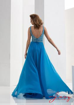 Style 5642 Jasz Couture Blue Size 14 Turquoise Tall Height A-line Dress on Queenly