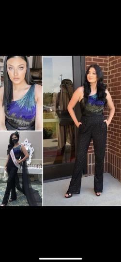 Ashley Lauren Black Size 6 Jumpsuit Dress on Queenly