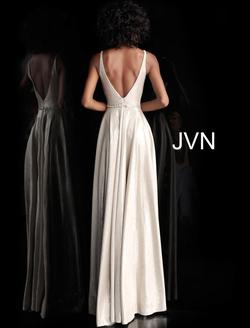 Style JVN67050 Jovani Silver Size 2 Prom Bridesmaid Straight Dress on Queenly