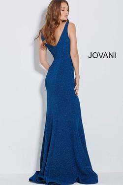 Style 59924 Jovani Blue Size 12 Tall Height Fitted Mermaid Dress on Queenly