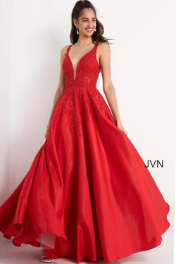 Style JVN04590 Jovani Red Size 2 Prom Pageant Ball gown on Queenly