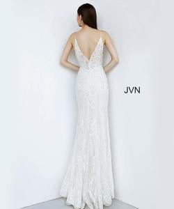 Style JVN00864 Jovani White Size 4 Tall Height Side slit Dress on Queenly