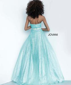 Style 3647 Jovani Blue Size 8 Tall Height Ball gown on Queenly