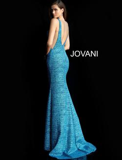 Style 45811 Jovani Blue Size 8 Tall Height Mermaid Dress on Queenly