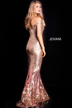 Style 60503 Jovani Gold Size 8 Pageant Sequin Mermaid Dress on Queenly
