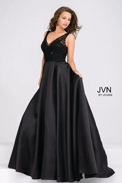 Style JVN48836 Jovani Black Size 8 Tall Height Ball gown on Queenly