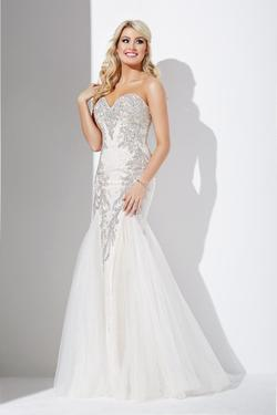 Style JVN37228 Jovani White Size 0 Sweetheart Tall Height Mermaid Dress on Queenly
