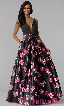 Style JVN60042 Jovani Multicolor Size 4 Tall Height Wedding Guest Ball gown on Queenly