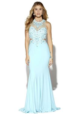 Style 16078 Jolene Blue Size 2 Tall Height Sheer Mermaid Dress on Queenly