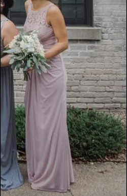 David's Bridal Pink Size 2 Lace Straight Dress on Queenly