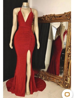 Silver Size 16 Side slit Dress on Queenly