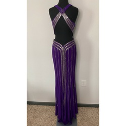 Blush Purple Size 8 Prom Jersey Straight Dress on Queenly