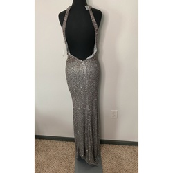 Primavera Silver Size 00 Prom Side slit Dress on Queenly