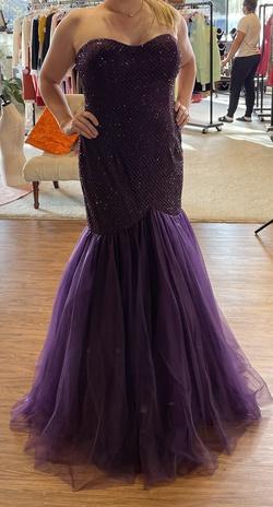 Purple Size 16 Mermaid Dress on Queenly