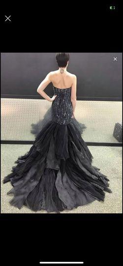 Stephen Yearick Black Size 6 Train Mermaid Dress on Queenly