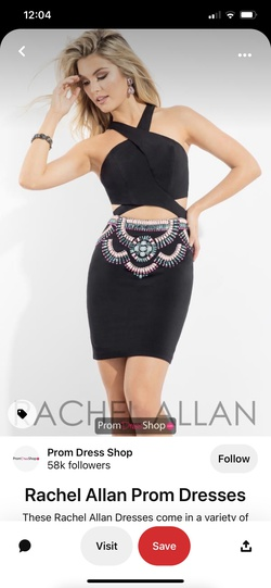 Rachel Allan Black Size 0 Prom Homecoming Cocktail Dress on Queenly