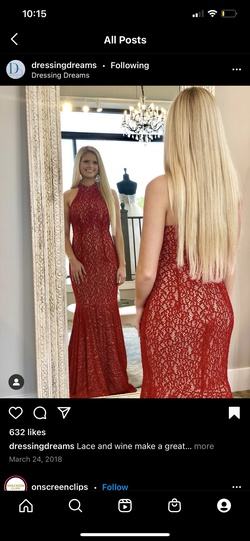 Jovani Red Size 8 Prom Jewelled Mermaid Dress on Queenly