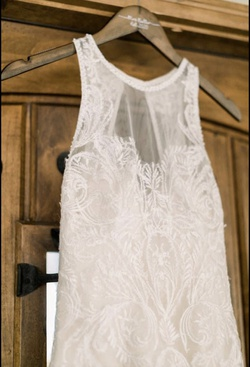 Maggie Sottero White Size 2 Bustier Train Dress on Queenly