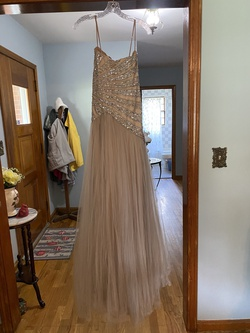Terrani couture Nude Size 4 Ball gown on Queenly