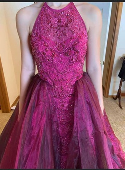 Sherri Hill Purple Size 4 Straight Ball gown on Queenly