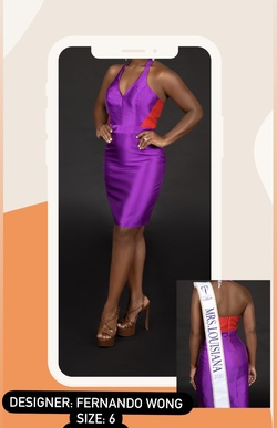 Fernando Wong Purple Size 6 Cocktail Dress on Queenly