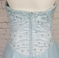 Mori Lee by Madeline Gardner  Blue Size 12 Quinceanera Tulle Corset Custom Ball gown on Queenly