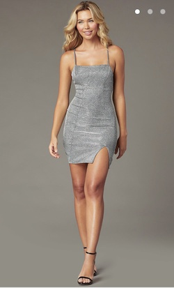Silver Size 14 Cocktail Dress on Queenly