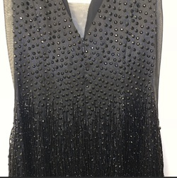 Sherri Hill Black Size 4 Tall Height V Neck Cocktail Dress on Queenly