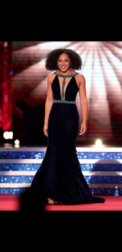 Sherri Hill Blue Size 6 Pageant Short Height Custom Mermaid Dress on Queenly