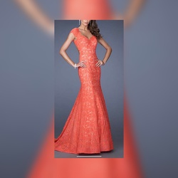 Orange Size 8 Mermaid Dress on Queenly