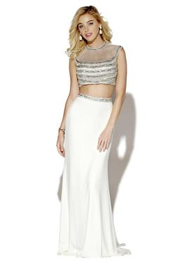 Style 16091 Jolene White Size 8 Pageant Tall Height Mermaid Dress on Queenly