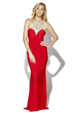 Style 16105 Jolene Red Size 2 Tall Height Mermaid Dress on Queenly