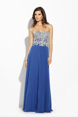 Style 14210 Jolene Blue Size 8 Sorority Formal Tall Height Wedding Guest Straight Dress on Queenly