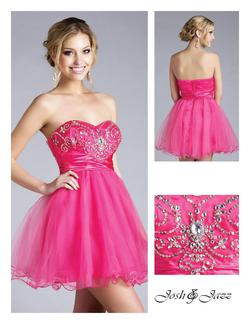 Style 1001667 Jolene Pink Size 4 Cocktail Dress on Queenly