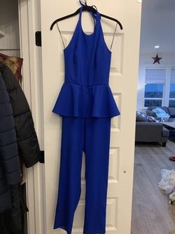 Fernando Wong Royal Blue Size 0 Custom Jumpsuit Dress on Queenly