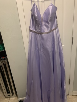 Purple Size 16 Train Dress on Queenly