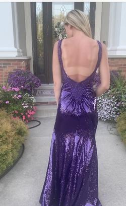 Purple Size 0 Side slit Dress on Queenly