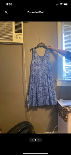 Suzy shiver Blue Size 10 Flare A-line Dress on Queenly