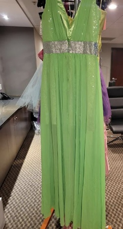 Style E30033 Jovani Green Size 10 Tall Height A-line Dress on Queenly