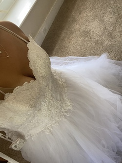 White Size 14 Ball gown on Queenly