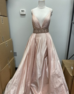 Jovani Pink Size 4 Ball gown on Queenly