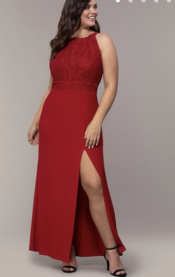 Red Size 20 Side slit Dress on Queenly