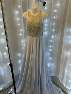 Mac Duggal Blue Size 4 Side slit Dress on Queenly