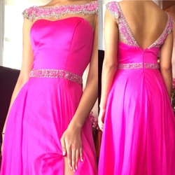 Sherri hill Pink Size 4 A-line Dress on Queenly